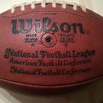 NFL official ball from Pete Rozelle era - Football