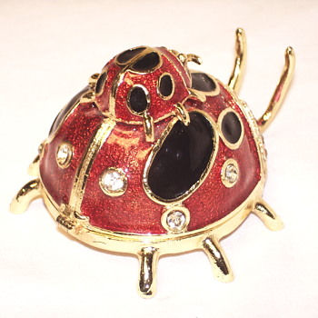 Enamel Lady Bug    - Animals