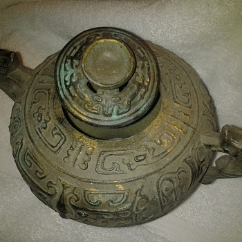 Chinese bronze cremation urn
