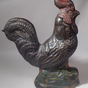 Crowing Rooster Mechanical Bank - Coin Operated