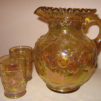 Fenton Apple Tree Water set - Glassware