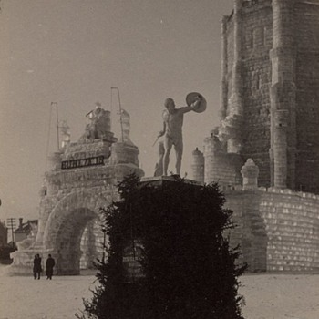 St. Paul Ice Carnival Stereoview, 1888