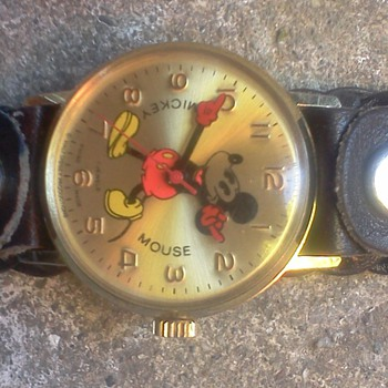 Bradley 7 Jewel Mickey Mouse Watch - Wristwatches