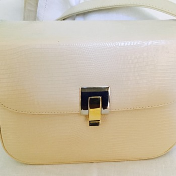 Zenith Handbag Made in Canada White Reptile Embossed Leather ?
