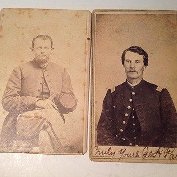 Need help with I&#039;d on civil war CDV photo and two German 1899 era cdv - Military and Wartime