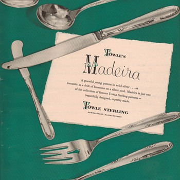 1950 Towle Sterling Advertisement - Madeira - Advertising