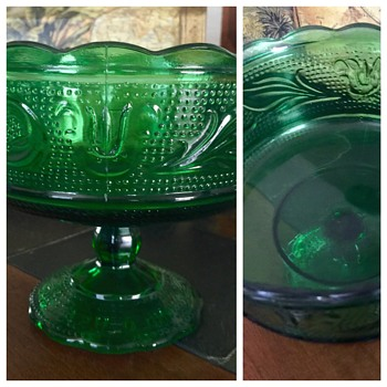 Depression Glass Candy Dish  - Glassware