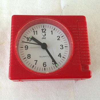 1970's-1980's French Jaz travel alarm clock.