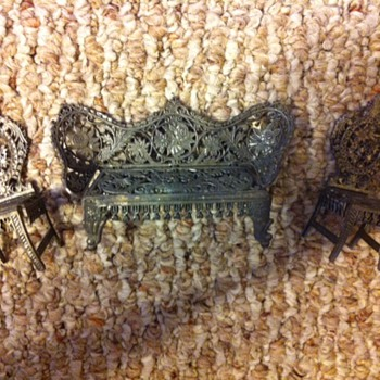 Metal Doll House Furniture  - Dolls