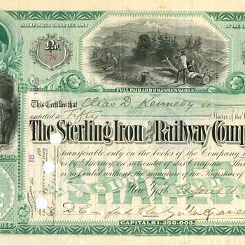 The Sterling Iron & Railway Company - Railroadiana