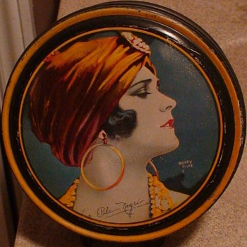 Pola Negri Silent Film Star Canco Tin - Art Deco