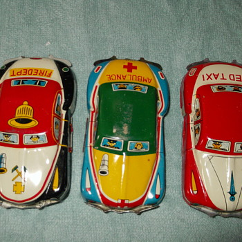 3 Tin Cars from Japan - Model Cars