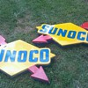 Sunoco Gas Station Signs Huge 4 Ft. Nascar Vintage Light
