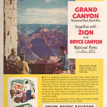 1953 - Union Pacific Railroad Advertisements - Advertising