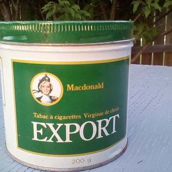 Export A Cigarette Tin  - Tobacciana