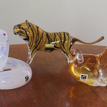 Zodiac animals by Kurata Glass Japan - Art Glass