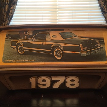 1978 Bill Blass edition Continental Mark V/ Dealer sign - Advertising