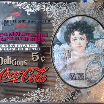 coca cola bar mirror