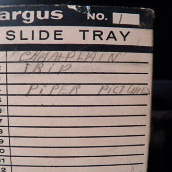 Argus slide tray Full - Photographs