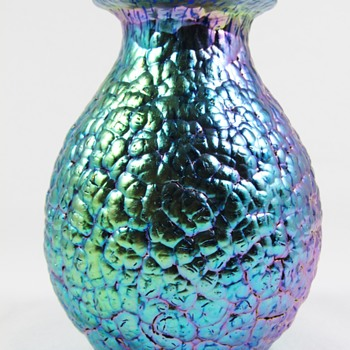 "Loetz Cobalt Blue Phänomen genre 377 ""Lava"" decor ca. 1900 -05 - Art Glass"