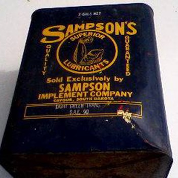 Sampson Oil Can - Petroliana