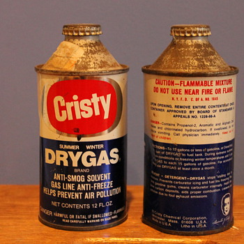 Cristy Dry Gas Cans - Petroliana