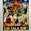 """Original 1937 Dante """"Mystery Revue"""" Stone Lithograph Poster"""