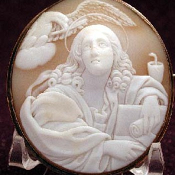 Shell cameo of St John the Evangelist - Fine Jewelry