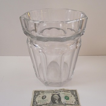 My Huge Vintage Baccarat Vase/Ice Bucket! - Art Glass