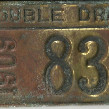 1909 License plate for horses and wagon (Double Dray)