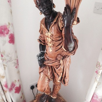 Blackamoor standing lamp