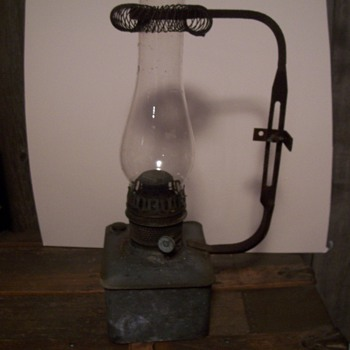 OLD RAILROAD STATION LAMP