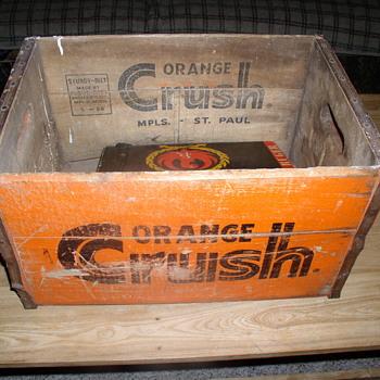 orange crush wood crate case box