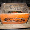 orange crush wood crate case box