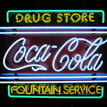 New (2009) Coca Cola Neon Sign & Clock