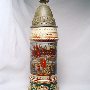 Imperial German Reservist's stein of Artilleryman Stein, 6th Battery, 39th Field Artillery - Breweriana