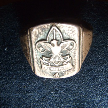 Early Sterling Boy Scout Ring - Fine Jewelry