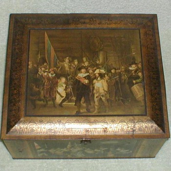 Antique Biscuit Tin - 1