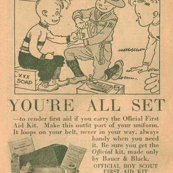 1932 Boy Scout First-Aid Kit Advertisement 1 - Advertising