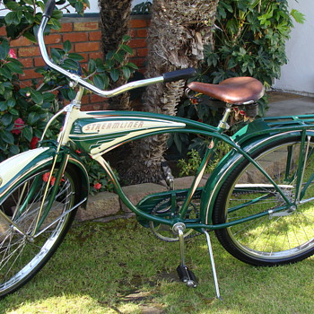 Kevins 1949 unrestored  orignal  Schwinn B. F. Goodrich Streamliner Survivor! - Sporting Goods