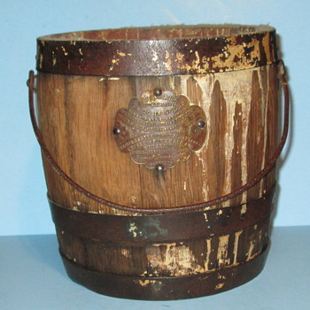 Beymer Bauman Co Bucket of Lead Pigment for making paint 1870 - 1900