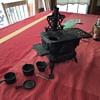 Crescent cast iron toy stove