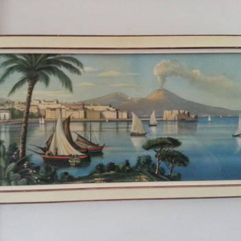 BEAUTIFUL ITALIAN PRINT OF MT VESUVIUS - Posters and Prints