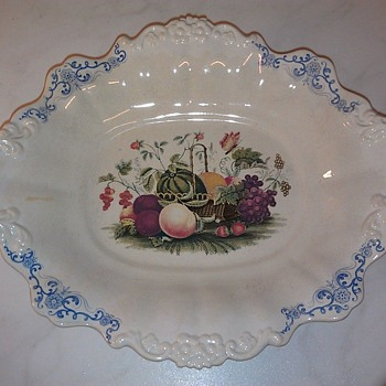 Counterfeit Wedgewood Fruit Basket Bowl 1840s