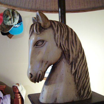 Horse Lamp (pair) Want to know value/origin - Lamps