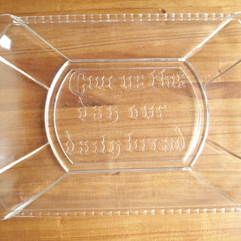 Etched dish - Glassware