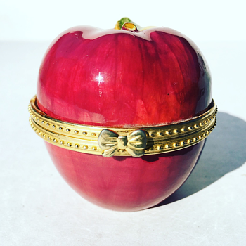 Vintage Porcelain Apple Jar