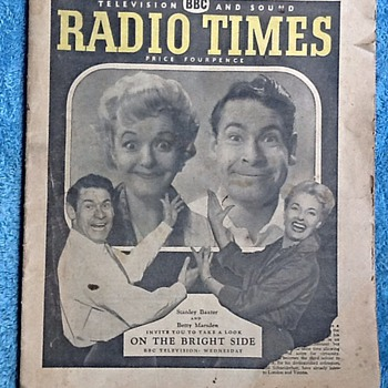 Radio times magazine for 10th July 1959-radio/TV programmes. - Paper