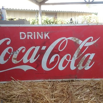 Australian Coca Cola Tin Sign - late 60's early 70's??