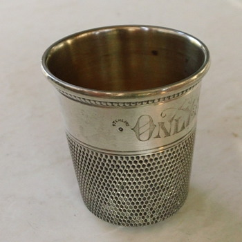 "Webster Sterling Silver ""Only a thimble full"" Jigger"
